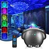 Star Projector, GRDE Night Light Projector 4 in 1 Galaxy Projector Ocean Wave Projector with Bluetooth Music Speaker for Baby Kids Bedroom/Party Decoration/Home Theatre/Night Light Ambiance