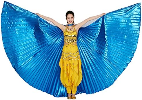 MUNAFIE Belly Dance Isis Wings with Sticks Halloween Carnival Performance Dance Costume Angel product image