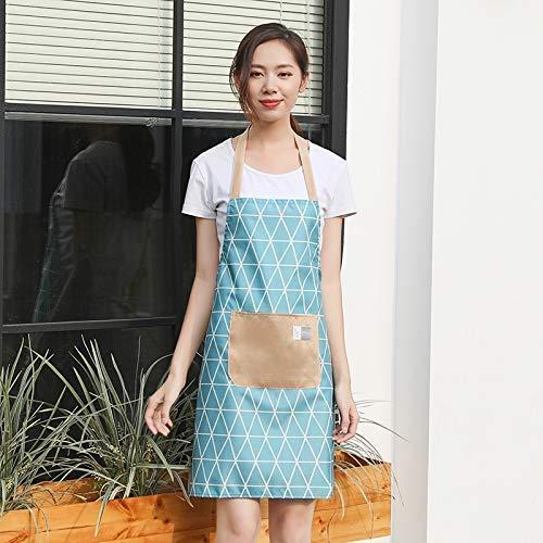 YLCJ Casa regenjas voor volwassenen, waterbestendig, voor dames, mooie woning, kleur: blauw, maat: 70 x 75 cm