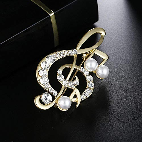 Sxuefang Brosche, Schmuck Outlet Hinweis Diamond Pearl Brosche Damen Accessoires Mantel Zubehör