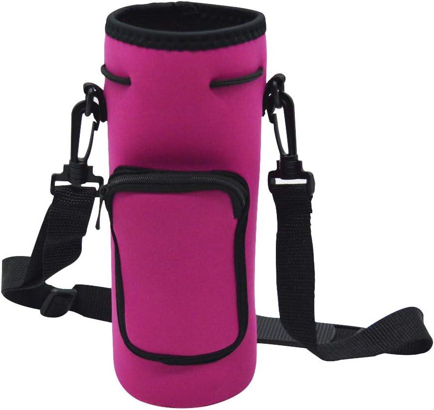 US Insulated Neoprene Water Bottle Shoulder Strap Water Bottle Carrier Bags Case
