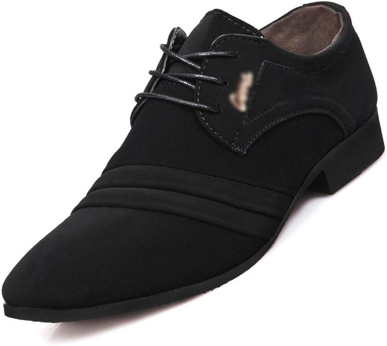 Easy Go Shopping shoes Men's Casual shoes Leather shoes Men's Business Cricket shoes (color   D, Size   41)