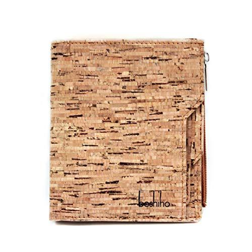 Boshiho Mens Cork Wallet - Slim Design Kredit-ID-Kartenhalter Bifold Geldbörse Wallet (Kork 2)