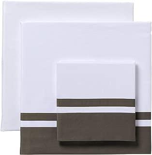 Cama 90 LA LLAR Juego de Sabanas Liso con Vainica 100/% Algodon Egipcio Saten Mercerizado 300 Hilos Blanco 160x280cm