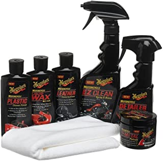 Meguiar's Motorcycle Care Kit – Package for Motorcycle Cleaning and Detailing – G55033, 7-Piece Kit