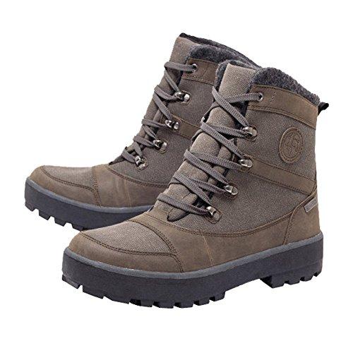 Walkx Herren Thermostiefel Boots Schuhe Thermo-Stiefel (Braun, 42)