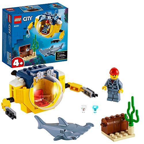 LEGO 60263 City Mini-U-Boot für Meeresforscher Unterwasser Set, Tauchabenteuer Spielzeug für Kinder ab 4 Jahren
