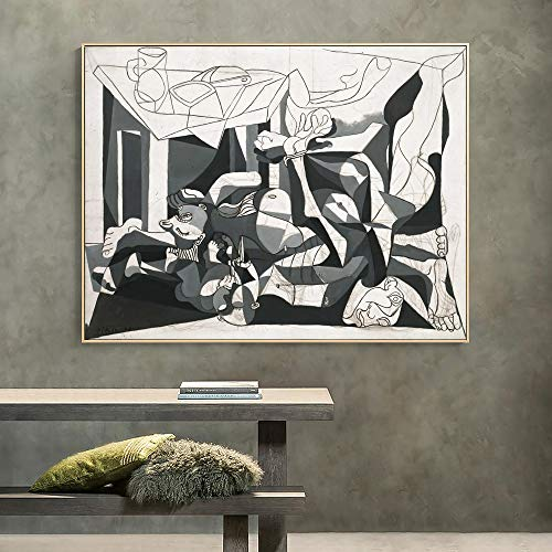 ganlanshu Wanddekoration berühmte Künstler abstrakte Kunst Leinwand Illustration Wandmalerei Plakate und Drucke für Hauptdekoration,Rahmenlose Malerei,50x70cm