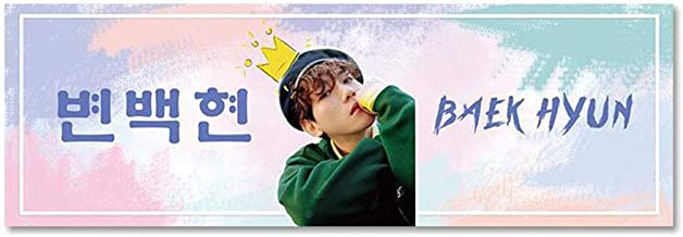 Youyouchard 2PCS Kpop BTS EXO Blackpink GOT7 Twice Straykids NCT TXT Seventeen IKON REDVELVET Support Banner Concert Airport Fabric Banner Album Hand Holder Slogan Poster