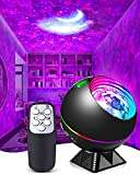 Galaxy Light Projector for Bedroom, Star Projector Night Light Projector for Bedroom Ocean Wave Moon Starlight Projector 3 in 1 with Voice Control Gift for Kids Adult Ceiling/Home Decor/Party