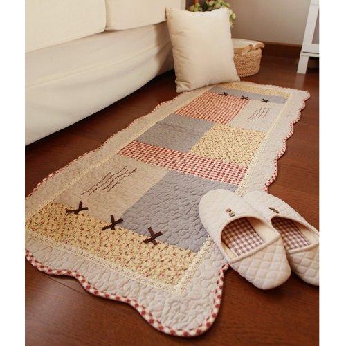 FADFAY Heimtextilien, elegante, rustikale Vintage-Blumen-Fußmatte, moderner Gingham-Druck, Teppiche aus China, Teppich