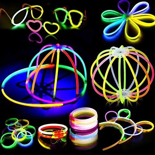 AMZJUPWM Barras Luminosas, 252pzas (20 cm) múltiples Colores: Amarillo, Rojo, Blanco, Ideal para Eventos: Fiestas Infantiles, Bodas, cumpleaños. (252PCS)