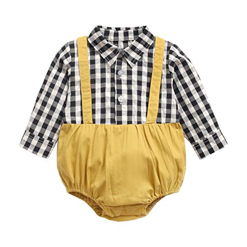 UMore Bebé Monos Niños Pelele Niñas Body, Algodón Manga Corta Verano Recién Nacidos Ropa Pijama para Bebé-Niños Jumpsuit 0-24 Meses