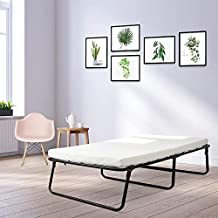YOUNIS Folding Bed, Guest Rollaway Bed Frame with Thick Memory Foam Mattress, Portable Bed with Metal Frame, Foldaway Guest Cot for Adults,Kids,Bedroom, Office, 75 x 31 Inches,Twin Size