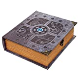 Grimoire Deck Box, Artificer - Wooden Spellbook Style Large Capacity Trading Card Deck Storage (800 to 1000 Cards) for MTG Magic the Gathering, Yugioh, Pokemon | Gift Item for Commander, Edh, Modern