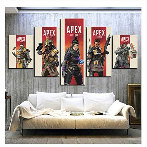 Suuyar Apex Legends Spiel Poster Bild Gemälde Leinwand Kunst HD Cartoon Bild Druck für Wohnkultur Wand Art-40x60 40x80 40x100 cm Kein Rahmen