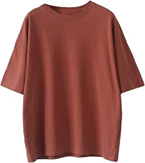 Andopa Women's Breathable One Size Solid Basic Cotton Comfort Shirts