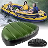 Kayak Inflatable Seat, Kayak Canoe Boat Seat Cushion Comfortable Waterproof Wear-resistant Fishing Air PVC Inflatable Boat Seat Cushion Blow Up Seat Pad for Camping Fishing Rowing 2/3 Person Kayak
