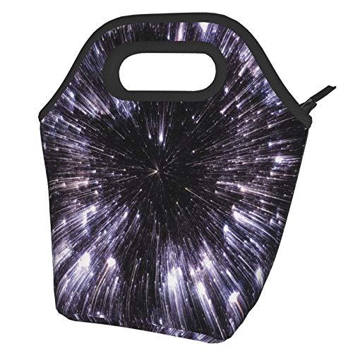 Speed of Life Space Travel Galaxy - Bolsa térmica portátil para el almuerzo, reutilizable, para hombres, adultos, niñas, trabajo, escuela, picnic