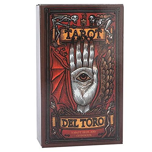 Weiyo Tarot del Toro, 78 Baraja Tarot Adivinación, Adecuado para Principiantes Entusiastas Las Cartas del Tarot Juego de Cartas Que Dice el Futuro con Caja Colorida para Viajes de Fiesta