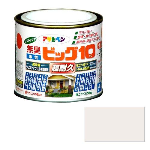アサヒペン 無臭 水性ビッグ10 パールホワイト 1/5L
