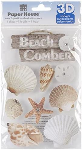 Paper House Productions STDM 184E 3D Stickers Beach Comber product image