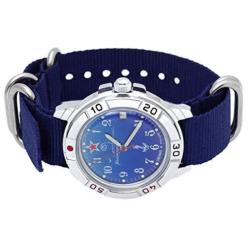 Vostok Komandirskie #431289 Russian Military Wristwatch Navy
