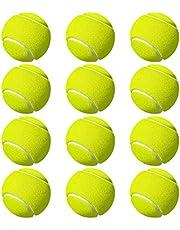 M ART Tennis Ball Light Weight Green Color,(Pack of 12)-Rubber
