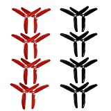 RAYCorp 5040 3-Blades 5x4x3 Propellers. 16 Pieces(8 CW, 8 CCW) Black Red Genuine & 5-inch Quadcopter and Multirotor Props