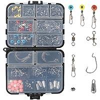 RUNCL Fishing Terminal Tackle, 148/170-Piecs Fishing Tackle Box