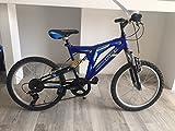 CINZIA Bici Bicicletta MTB Full Suspension BIAMMORTIZZATA SPEEDRIDER 20''