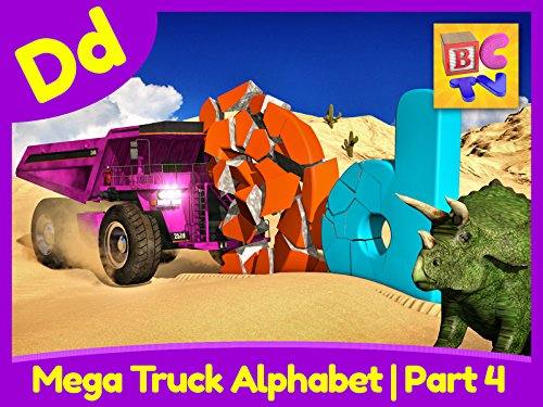 Mega Truck Alphabet Part 4 - Learn About the Letter D (Halloween Words That Start With The Letter P)