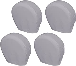 Explore Land Tire Covers 4 Pack - Tough Tire Wheel Protector for Truck, SUV, Trailer, Camper, RV - Universal Fits Tire Diameters 32-34.75 inches, Charcoal