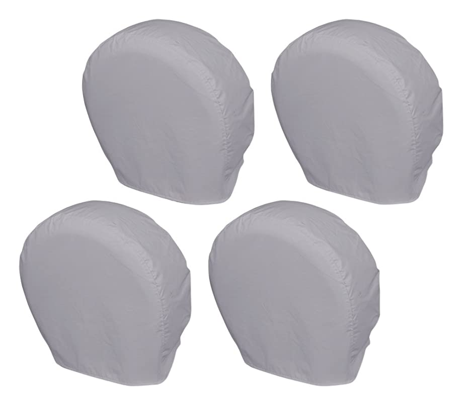 Explore Land 10701005 Tire Wheel Cover for Car, Jeep, Truck, SUV, Trailer, Camper, Rv, Tough Vinyl Protector, Universal Fit, Charcoal, Pack of 4