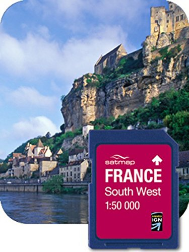 Satmap Fr-cy-50-sd-004 Carte Système GPS pour South West France Echelle 1/50 000