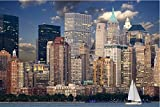 Zopix Premium Poster New York Skyline Manhattan Hudson