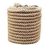 XBSXP Cuerda de cáñamo, Cuerda de Yute Resistente, 26 mm / 30 mm, 5-10 m - para Manualidades de Bricolaje, jardinería, hamacas, decoración del hogar (tamaño: 30 mm / 9 m)