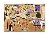 Joan Miro Art Painting Surrealismo Carnaval Póster Abstracto Arte de la Pared Cuadro Cuadro Cuadro Cuadro Cuadro Cuadro Moderno Decoración de Sala (30 x 45 cm), Sin Enmarcado)