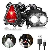 Lauflicht, ECOWHO LED Lauflampe Sport, USB Wiederaufladbare Lauflampe Joggen, Wasserdicht Jogging Licht, 90°Einstellbarer Abstrahlwinkel Brustlampe, Lampe zum Laufen für Joggen Nacht Angeln Campen