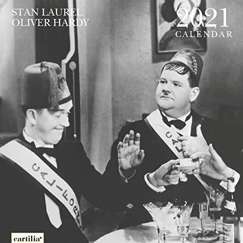 Wandkalender 2021 Stan Laurel & Oliver Hardy 30 x 30 cm (GM193) Fine Paper in Italien