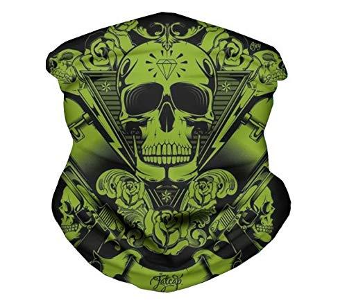 YWCXMY-LDL Unisex Punky del Estilo de la Cabeza del cráneo Pañuelos de impresión en 3D Máscara del pasamontañas Bufandas a Prueba de Polvo Boca Cara (Color : HMQ063Z28)