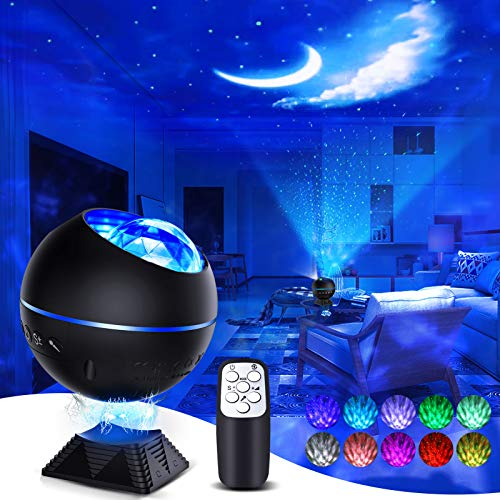 Star Projector Night Light 3 in 1 Galaxy Cove Projector with 40 Colors Mini Galaxy 360 Pro Projector Ocean Galaxy Light for Baby Kids Girl Adult Bedroom Ceiling Car Party/Birthday Gift-Black