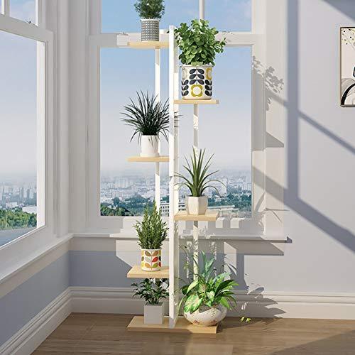 Blumenständer- 6-stöckiger Pflanzenständer für Blumentöpfe In Metalltöpfen für Wohnzimmer, Balkon Und Ecke
