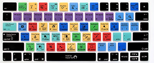 HRH for Photoshop PS Functional Shortcut Hotkey Keyboard Cover Silicone Skin for Magic Wireless Bluetooth Keyboard MLA22LL/A (A1644,2015 Released) with US Layout