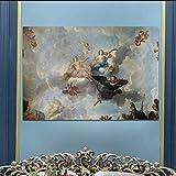 KWzEQ Figuras de Pintura al óleo Realmente magníficas en Carteles y lienzos, murales de Sala de Estar,Pintura sin Marco,60x90cm