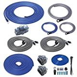 Recoil RC4D True 4 Gauge Car Audio Dual Amplifiers CCA Wiring Installation Kits with OFC RCA Cable