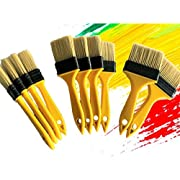 PANCLUB Chip Paint Brushes Bulk Assorted Size   Sturdy Bristles   40 Pack of Paint Brush for Home Wall Trim House   100% Plastic   for Paint,Gesso,Glues,Varnishes,Acrylics and Completely Recyclable