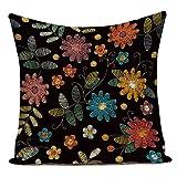Funda Cojine sofá Decorar Funda Almohada Cojines decorativos con flores pequeñas animales peces pájaros sofá funda...