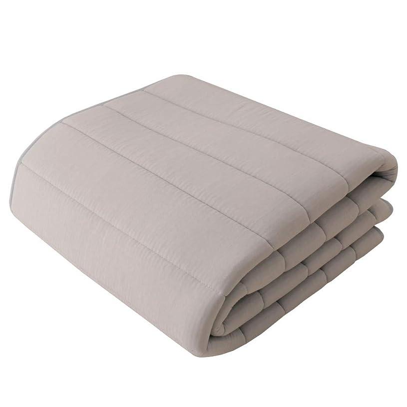 規則性起業家文字テイジン V-Lap(R)ベッドパッド シングル(100×200cm) 綿ニット 敷き/グレー