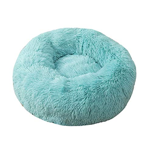 Suave Peluche Super Suave Bed Bed Kennel Redondo Bolsa de dormir Lazy Cat House Cálido Invierno Sofá Cesta Pequeño Perro Medio Medio Para cachorros y gatitos ( Color : Q , Size : S Diameter 50cm )